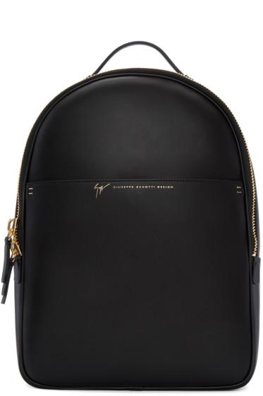 Giuseppe Zanotti - Black Leather Backpack