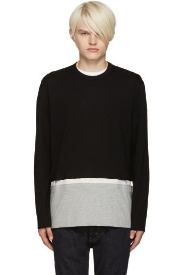 Comme des Garçons Shirt - Black Cut-Out T-Shirt