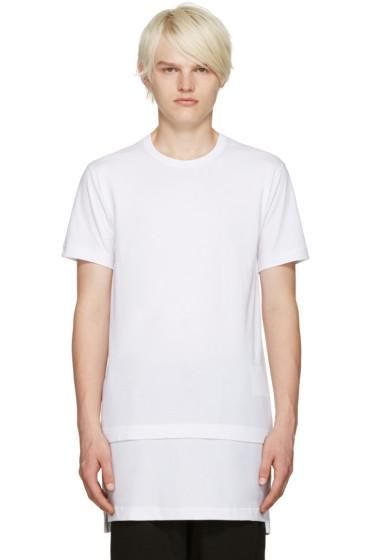 Comme des Garçons Shirt - White Layered T-Shirt
