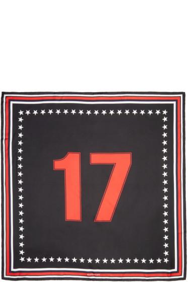 Givenchy - Black Silk 17 Scarf
