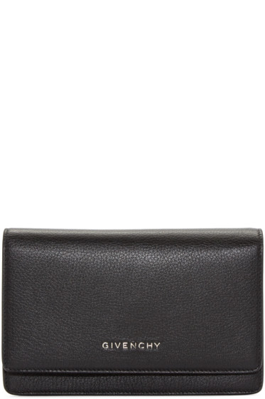 Givenchy - Black Leather Pandora Chain Wallet