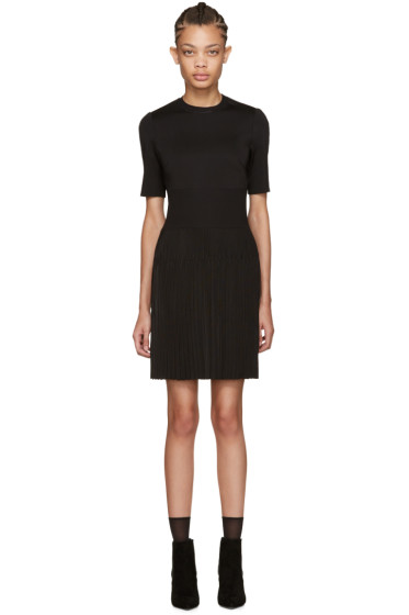 Givenchy - Black Pleated Knit Dress
