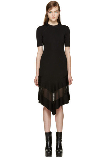 Givenchy - Black Sheer Panel Dress