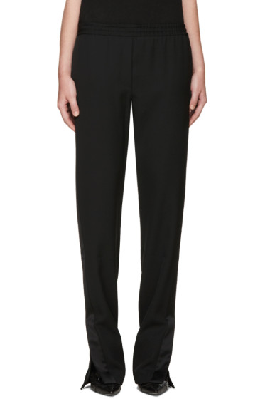 Givenchy - Black Satin Trimmed Lounge Pants