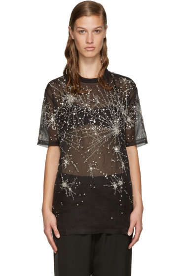 Givenchy - Black Silk Constellation T-Shirt
