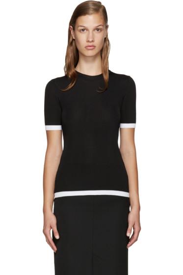 Givenchy - Black Ribbed Viscose T-Shirt