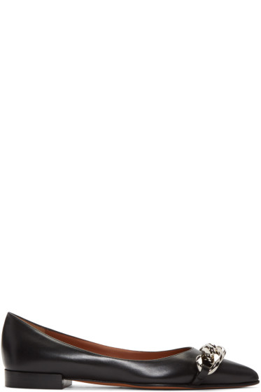 Givenchy - Black Chain Flats
