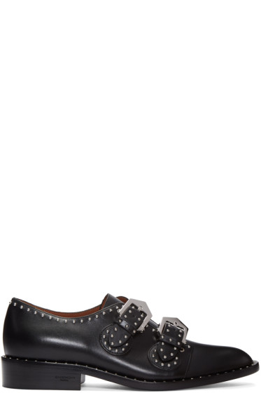 Givenchy - Black Studded Monk Strap Shoes
