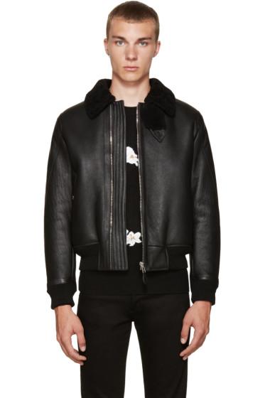 Givenchy - Black Shearling Jacket