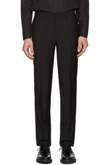 Givenchy - Black Wool Chain Trousers
