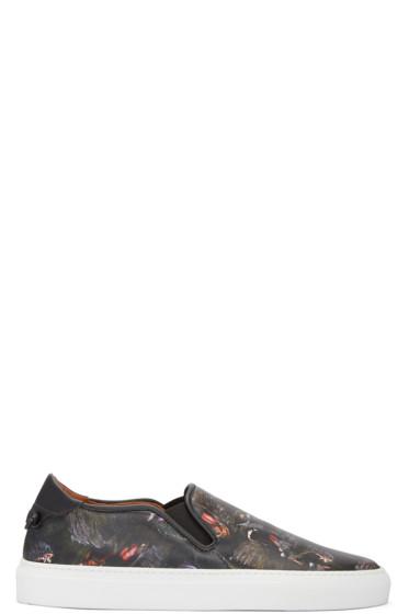 Givenchy - Black Monkey Skate Slip-On Sneakers