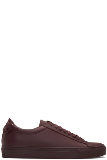 Givenchy - Burgundy Urban Knots Sneakers
