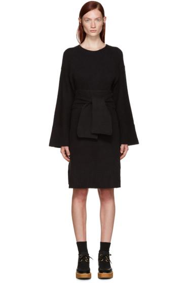 3.1 Phillip Lim - Black Knit Obi Belt Dress