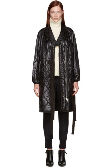 3.1 Phillip Lim - Black Quilted Kimono Coat