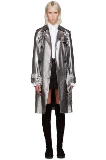 3.1 Phillip Lim - Silver Metallic Trench Coat