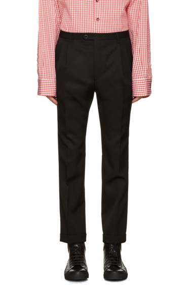 Raf Simons - Black Wool Cropped Trousers