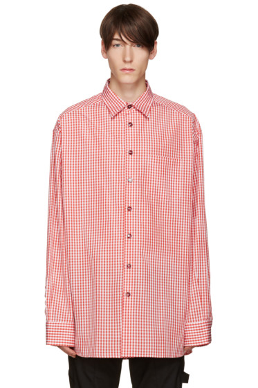 Raf Simons - Red & White Oversized Shirt