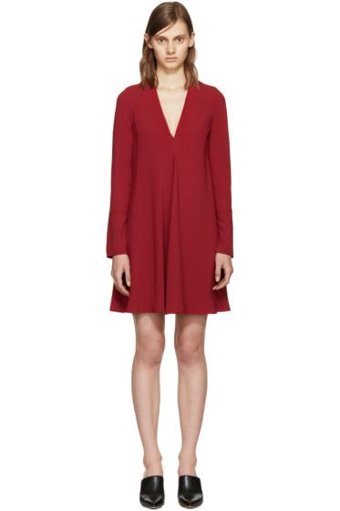 Proenza Schouler - Burgundy Crepe Dress