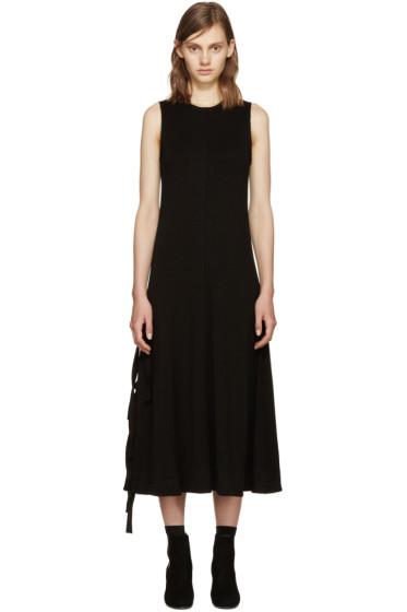 Proenza Schouler - Black Side-Slit Dress