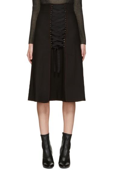 Proenza Schouler - Black Lace-Up Skirt