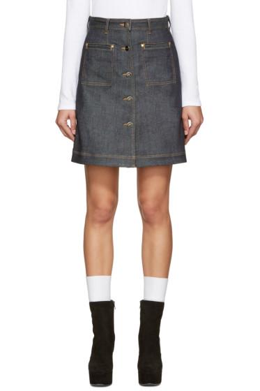 Carven - Indigo Denim Miniskirt