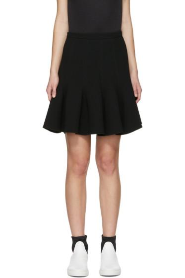 Carven - Black Flared Miniskirt