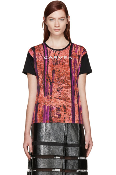 Carven - Multicolor Forest T-Shirt