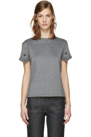 Carven - Grey Cut-Out T-Shirt