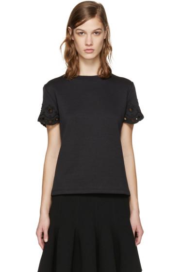 Carven - Black Cut-Out T-Shirt