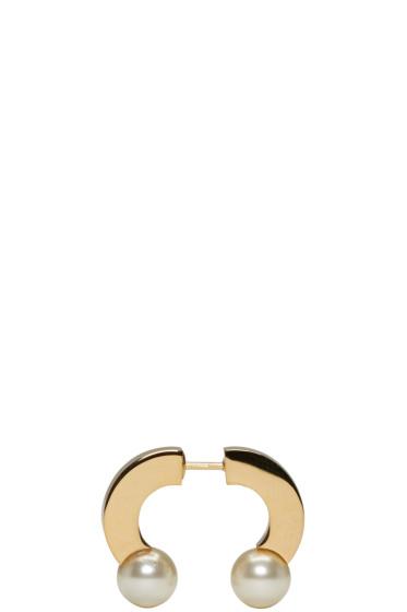 Chloé - Gold Pearl Darcey Single Earring