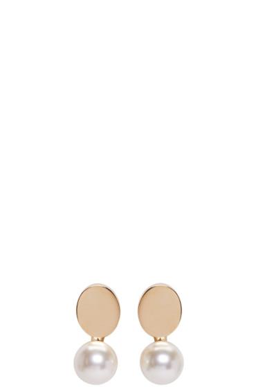 Chloé - Gold Pearl Darcey Earrings