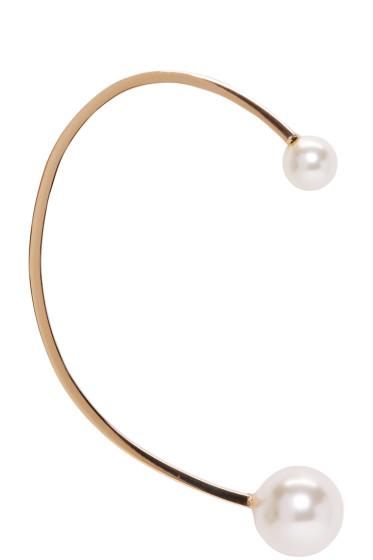 Chloé - Gold Pearl Darcey Ear Cuff