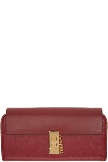 Chloé - Red Long Drew Wallet
