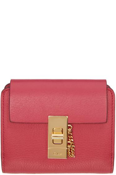 Chloé - Pink Square Drew Wallet