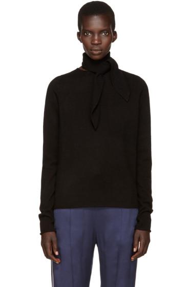 Chloé - Black Neck Tie Sweater