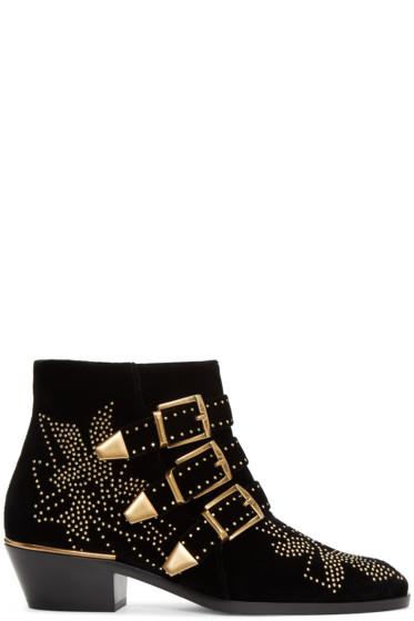 Chloé - Black Velvet Susanna Boots