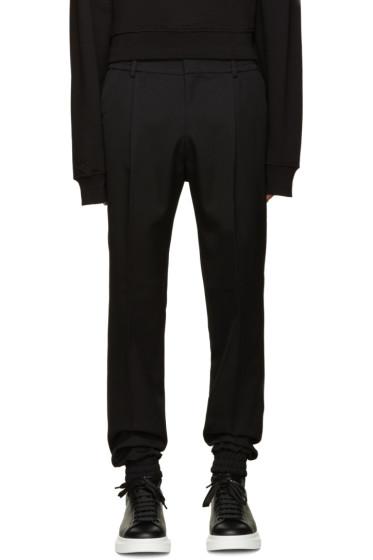 Juun.J - Black Pleated Wool Trousers