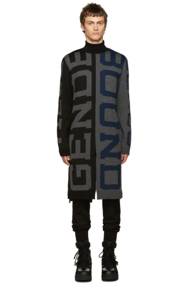 Juun.J - Black & Grey Genderless Turtleneck