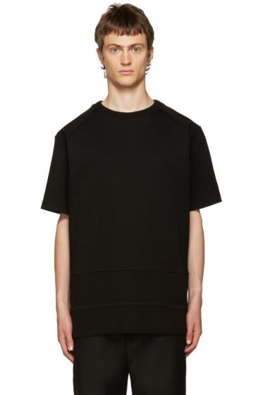 Juun.J - Black Ribbed Mix T-Shirt