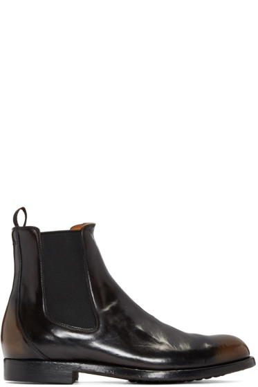 Officine Creative - Black Leather Chelsea Boots