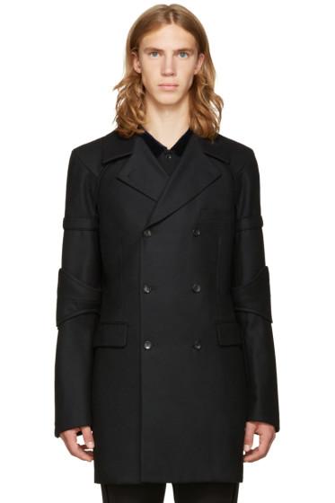 Comme des Garçons Homme Plus - Black Double-Breasted Wool Coat