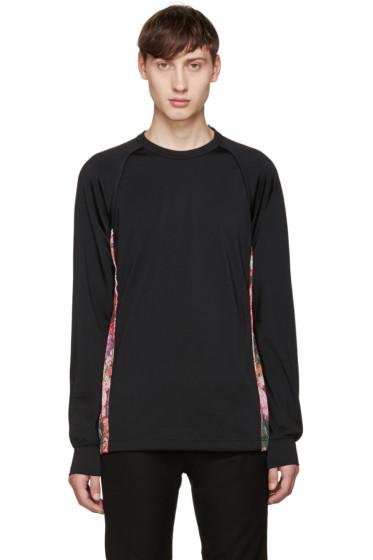 Comme des Garçons Homme Plus - Black Floral Mesh T-Shirt