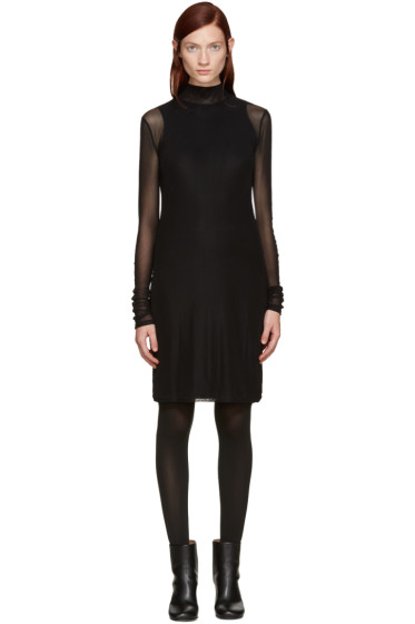 BLK DNM - Black Mesh Layered Dress