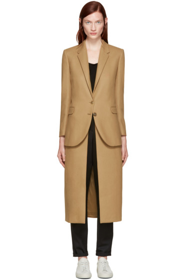 Neil Barrett - Camel Layered Wool Coat
