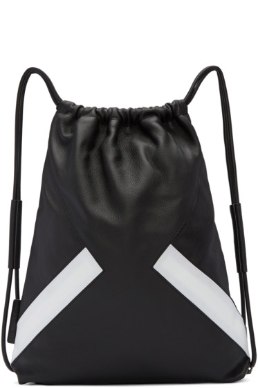 Neil Barrett - Black & White Retro Modernist Rucksack