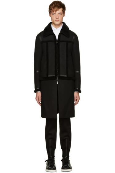 Neil Barrett - Black Shearling Hybrid Jacket