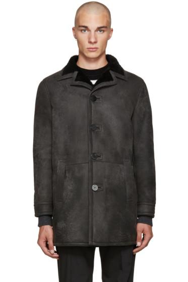 Neil Barrett - Black Shearling Long Coat