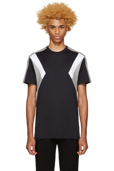 Neil Barrett - Tricolor Retro Modernist T-Shirt