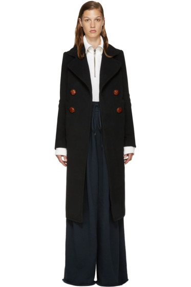 See by Chloé - Navy Wool Long Coat