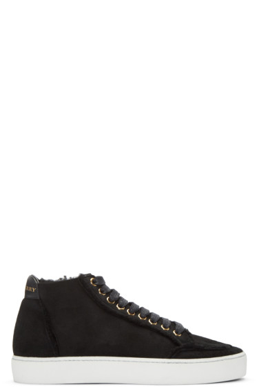 Burberry - Black Salmond Mid-Top Sneakers